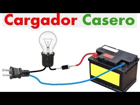Cargador electrico para baterias de coche