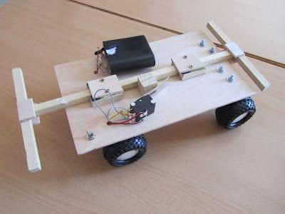 Coche electrico de madera tecnologia