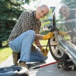 Arreglar abolladura puerta coche