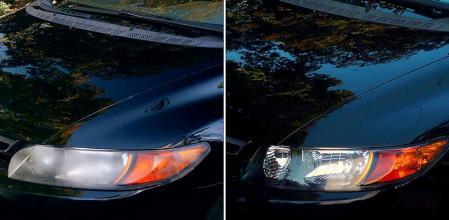 Como limpiar los faros delanteros del coche