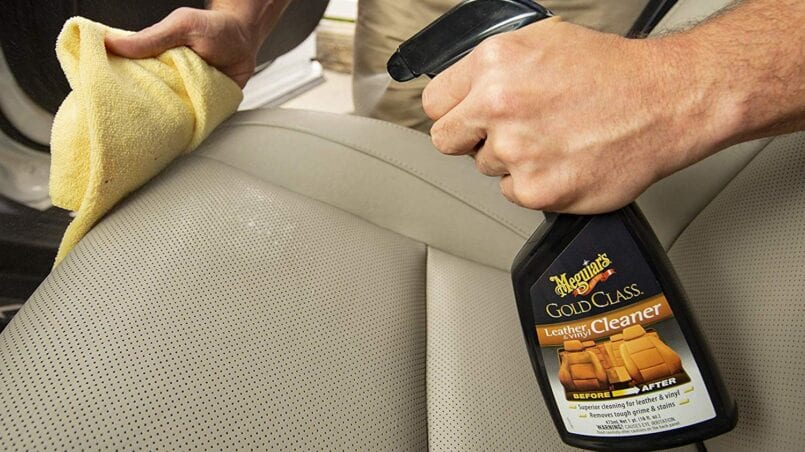 Limpiar manchas asientos coche