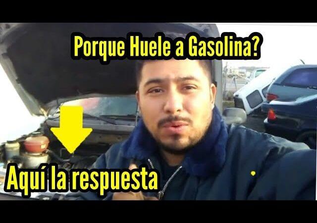 Olor a gasolina dentro del coche