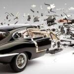 Piezas del motor de un coche