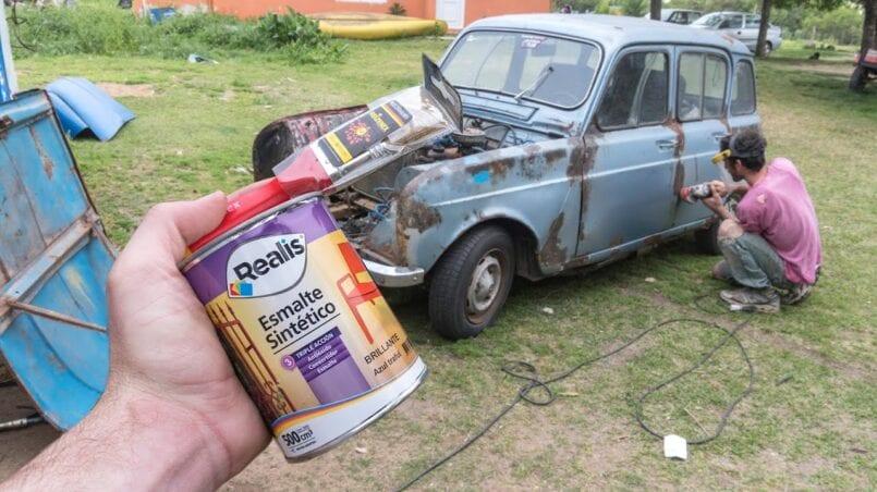 Pintar coche con esmalte sintetico