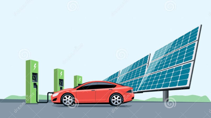 Placas solares para cargar coche electrico
