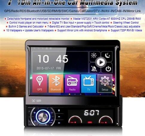 Radio con pantalla para coche