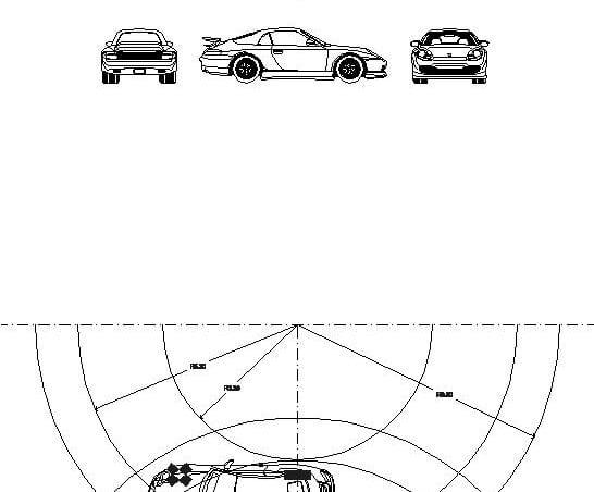 Radio giro coche parking