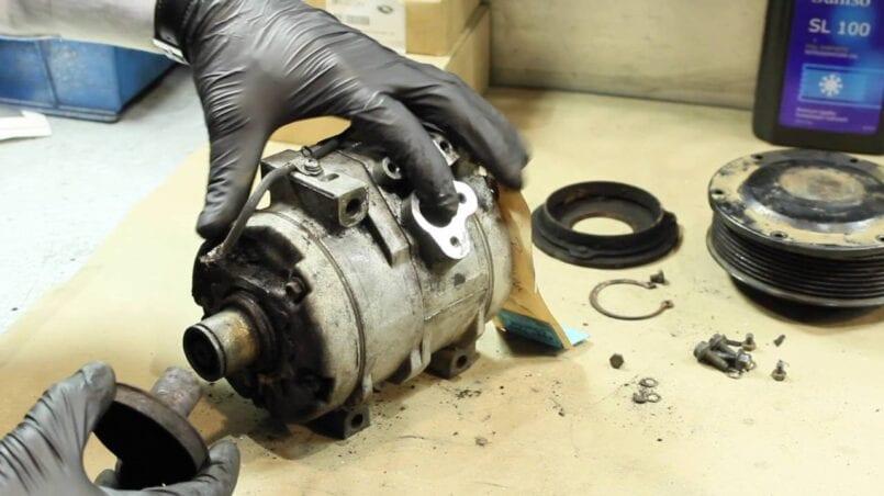 Reparacion compresor aire acondicionado coche