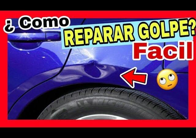 Reparar bollo coche masilla