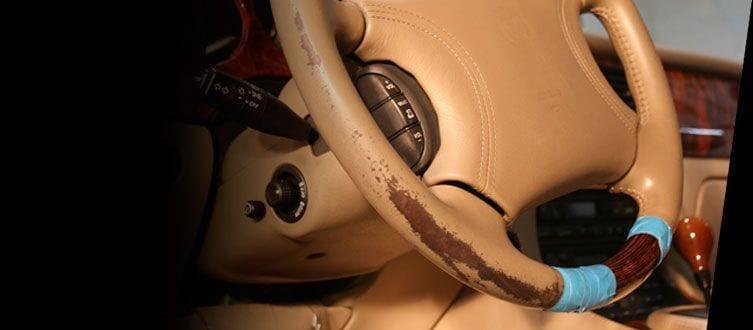 Restaurar volante cuero coche