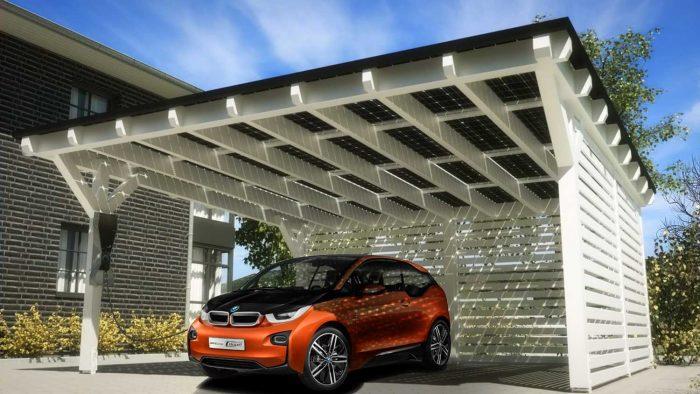 Cargador solar auto electrico