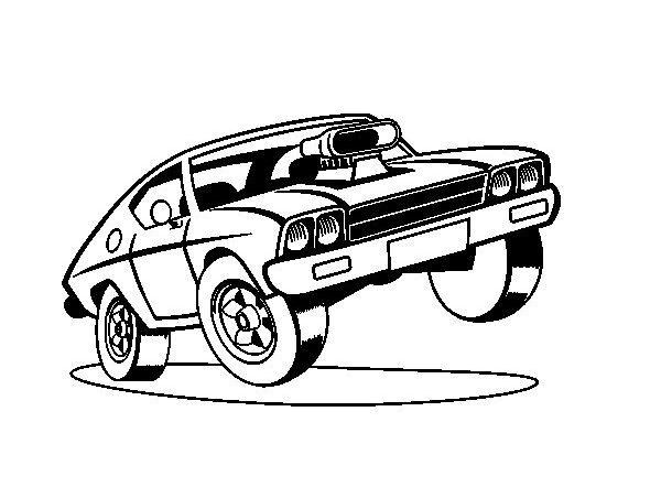 Dibujos para pintar auto