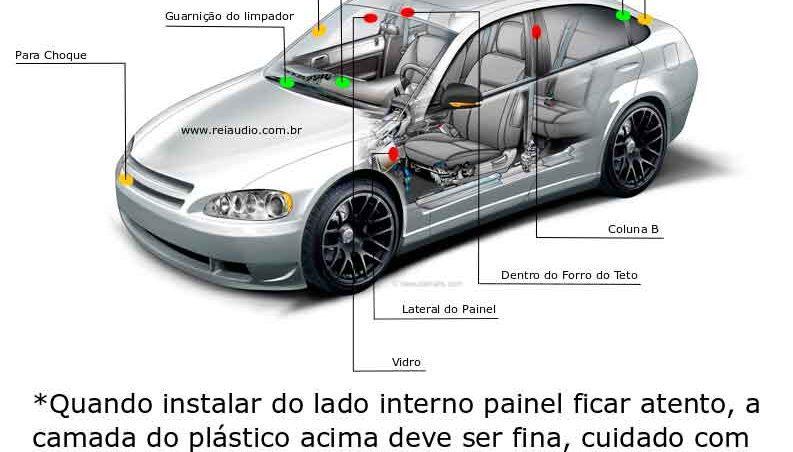 Instalacion antena gps auto